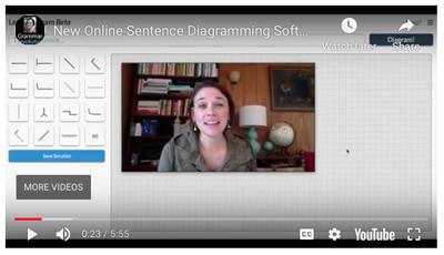 Sentence Diagramming Software Video