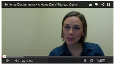 Thoreau Sentence Diagramming Video