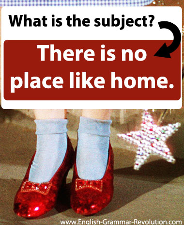 There is no place like home. What is the subject of that sentence?