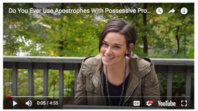 Possessive Pronoun Video