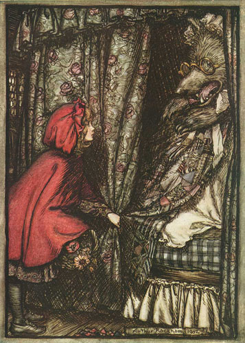 Little Red Riding Hood uses exclamatory sentences. www.GrammarRevolution.com/sentence-types.html