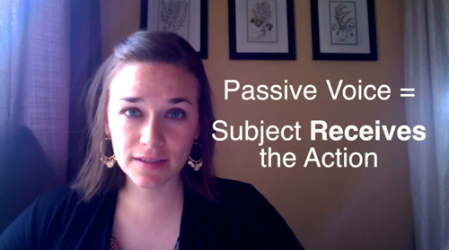 Passive Voice = Subject Receives the Action