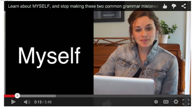 Video on using the pronoun MYSELF