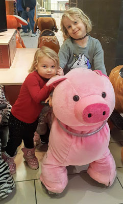 Alice and Lenora pig