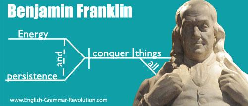 Benjamin Franklin Sentence Diagram