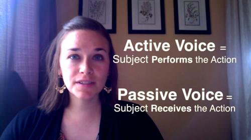 Active Voice and Passive Voice