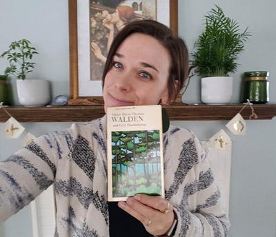 Elizabeth O'Brien holding Walden