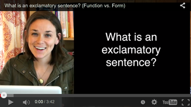 What is an exclamatory sentence? (Video)