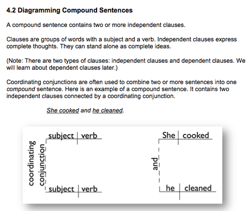 Sentence diagramming exercises peek inside lessons exercises section ccuart