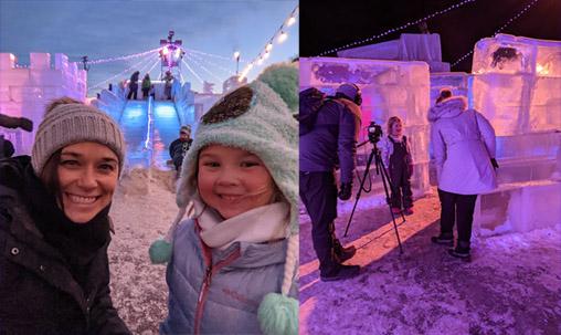 Minnesota  Winter Ice Maze