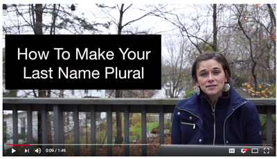 English Grammar Revolution Last Name Plural Video
