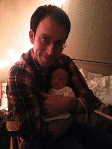 David O'Brien and baby Alice