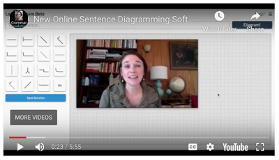 Sentence Diagramming Software Video