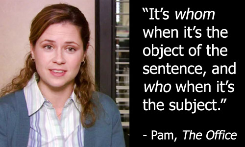Pam and WHOMEVER