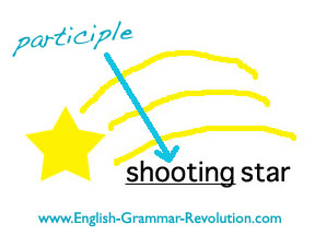 SHOOTING star, SHOOTING is a participle