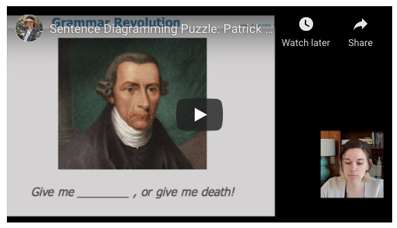 Video of Patrick Henry Sentence Diagram