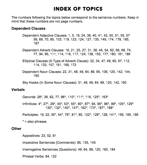 Index page