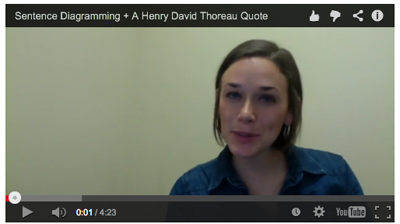 Thoreau Sentence Diagramming Video