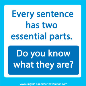 What does it take to make a sentence?