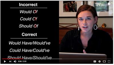 English Grammar Revolution Would of Video
