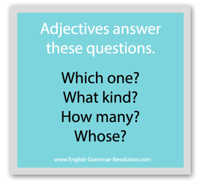 The Adjective Questions