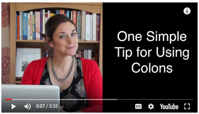 How do you use colons? video
