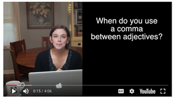 comma and adjectives video