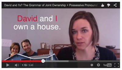 Learn about possessives (Video)
