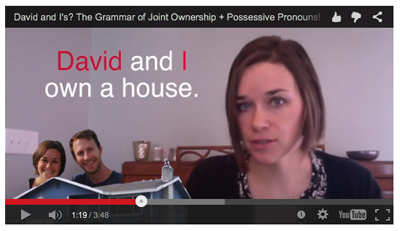 The grammar of joint ownership with pronouns - video