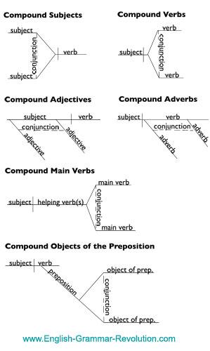 Sentence diagram compound elements