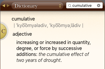 definition of cumulative
