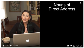 Nouns of Direct Address video