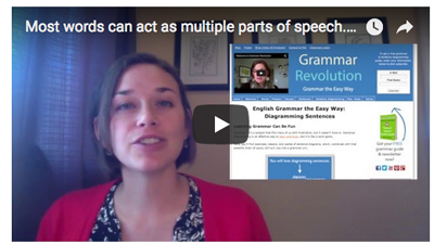 Parts of speech video