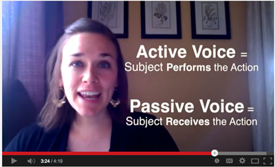 Passive Verbs video