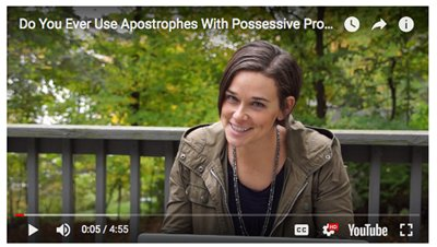 Personal Pronouns + Apostrophes Video