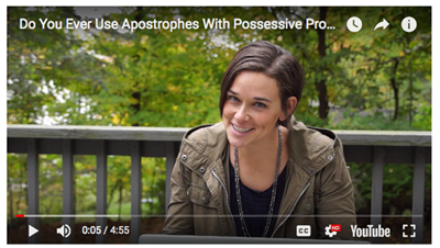 Apostrophes with personal pronouns video