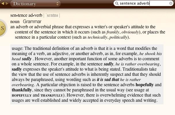 Hopefully note from dictionary