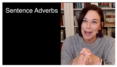 What is a sentence adverb? (video)