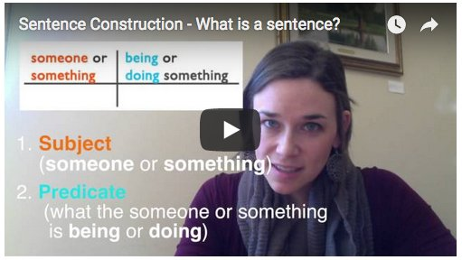 Sentence Construction video
