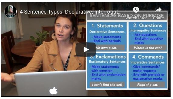 Sentence Types Video