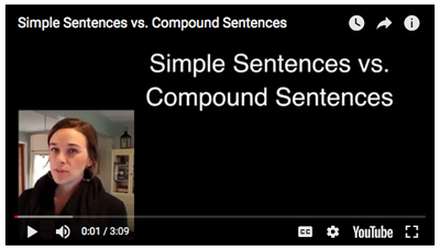 Simple Sentences vs. Compound Sentence Video