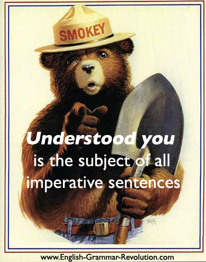 Imperative sentences have the subject