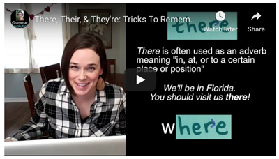 Commonly Confused Words: Their, There, and They're Video
