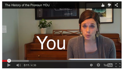 The pronoun YOU video
